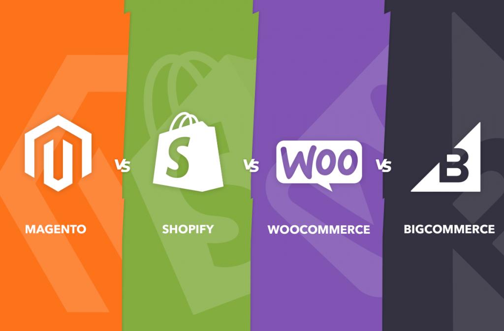 Magento vs Shopify vs woocommerce vs Bigcommerce